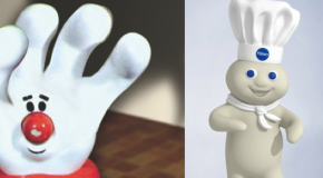 Who wins in a fight? The Pillsbury Dough Boy or the Hamburger Helper glove?