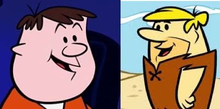 Is the animated Ricky Gervais a descendant of Barney Rubble?